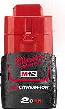 Milwaukee M12B2 12V 2.0Ah Lithium-Ion Battery