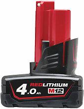 Milwaukee M12B4 12V 4.0Ah Lithium-Ion Battery