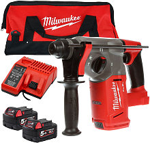 Milwaukee M18CHX-0 M18 Hammer Drill 2 x 5.0Ah