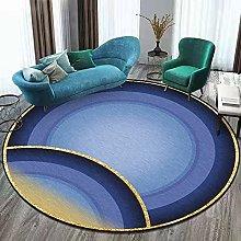 MIMI KING Abstract Stylish Modern Round Area Rug,
