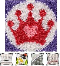 Min DIY Tools Crocheting Rug Crown With Printed