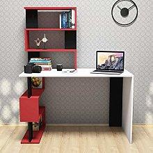 Minar by Homemania White Red and Black Melamine