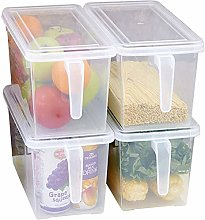 MineSign 4 Pack Plastic Food Storage Bins with