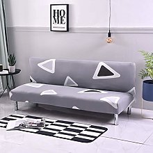 Mingfuxin Armless Sofa Bed Cover, Spandex Stretch