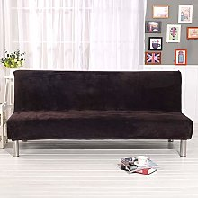 Mingfuxin Armless Sofa Bed Cover, Velvet Plush
