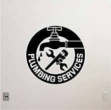 MINGKK Wall Stickers Plumbing Services Wall Decal