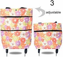 MINGTIAN 2 In 1 Portable Foldable Shopping Cart