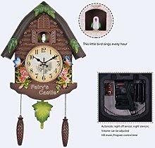 MingXinJia Home Bedside Clocks Cuckoo Clock