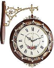 MingXinJia Home Bedside Clocks Double Sided