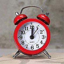MingXinJia Home Bedside Clocks Mini Metal Alarm