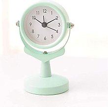 MingXinJia Home Bedside Clocks Silence Metal Desk