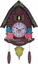 MingXinJia Home Bedside Clocks Wall Clock Black