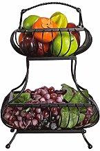 MingXinJia Household Storage Bowls 2-Layer Fruit