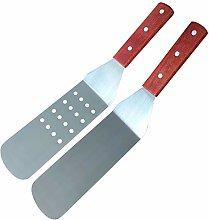 MINGZE 36cm Wood Handle Flexible Grill Spatula
