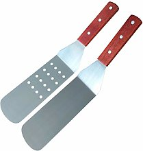 MINGZE 36cm Wood Handle Flexible Grill Spatula
