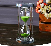 MINGZE Transparent Crystal Hourglass Timer Sand