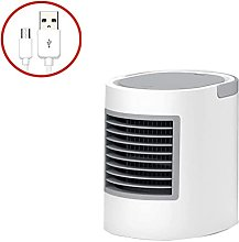 Mini Air Conditioner Fan Oval Water Cooling USB