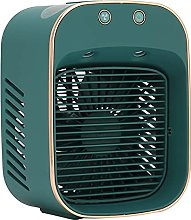 Mini Air Humidifier Fan, Portable Plug‑in Air