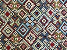 Mini Aztec Multi Coloured Tapestry Designer