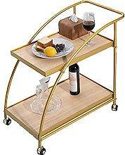 Mini Bar Cart Metal Frame Kitchen Cart on Wheels