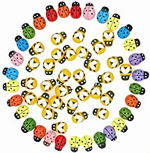 Mini Bees and Ladybirds,100 pieces 9x13mm Tiny