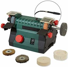 Mini Bench Grinder and Polisher with Flexi Shaf