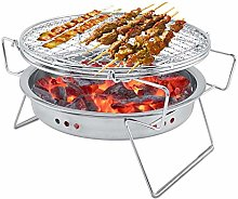 Mini Charcoal BBQ Grill Stainless Steel Folding