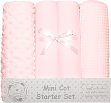 Mini Cot Starter Set (4 Pieces) (One Size) (Pink)