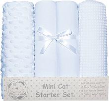 Mini Cot Starter Set (4 Pieces) (One Size) (Sky