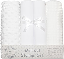 Mini Cot Starter Set (4 Pieces) (One Size) (White)