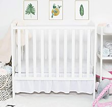 Mini Crib Skirt Ruffled, Microfiber Portable Crib