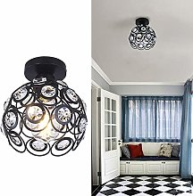 Mini Crystal Chandelier Modern Ceiling Light Semi
