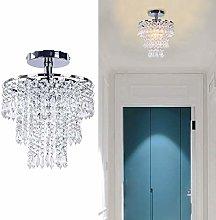 Mini Crystal Chandelier Modern Flush Mount Ceiling