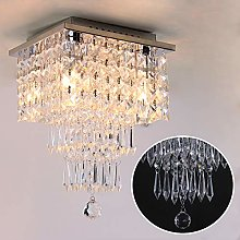 Mini Crystal Chandelier Modern Square Ceiling