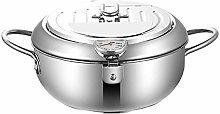 Mini Deep Fryer Pan, Temperature Control Tempura