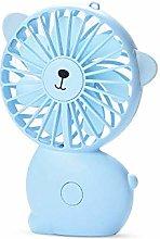 Mini Desk Fan, Rechargeable Battery Fan with LED