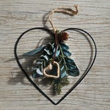 Mini Dressed Nordic Heart Christmas Decoration,