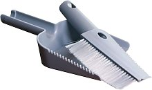 Mini dustpan and brush set for office, home, gray