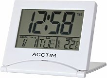 Mini Flip II Travel LCD Alarm Clock White - 15782