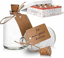 Mini Glass Bottles with Cork Lids for Wedding