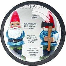 Mini Gnomes Funny Cabinet Door Knobs Handles Pulls