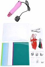 Mini Heat Gun with Plastic Heat Shrink Dinks Sheet
