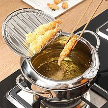 Mini Household Tempura Fryer,Deep Fryer Pan with