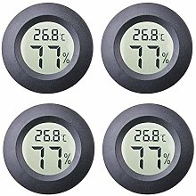 Mini Hygrometer, 4-Pack Thermometer Hygrometer