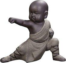 Mini Kung Fu Monk Ornaments Buddha Statue Animal