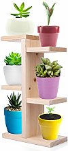 Mini Ladder Shelf, Teakpeak 3 Tier Wooden Ladder