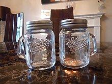 Mini Mason Jar Salt & Pepper Pots - Glass Salt and