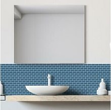 Mini Metro Petrol Blue Self-Adhesive Mosaic Tile