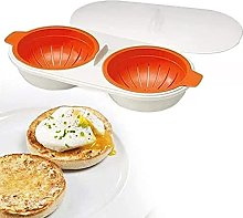Mini Microwave Egg Poacher Cup with Two-Layer &