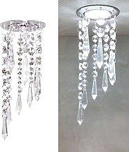 Mini Modern Crystal Chandelier LED Ceiling Light